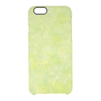 Lime Green Fairy Dust Bokeh Clear iPhone 6/6S Case