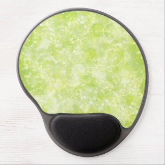 Lime Green Fairy Dust Bokeh Gel Mouse Pad