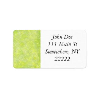 Lime Green Fairy Dust Bokeh Label