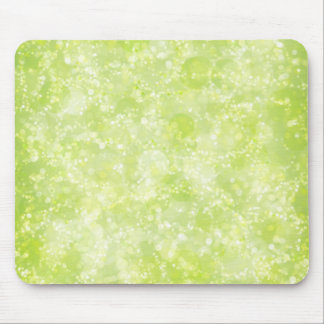 Lime Green Fairy Dust Bokeh Mouse Pad