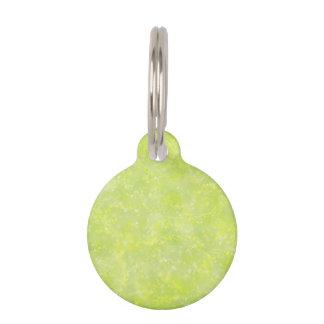 Lime Green Fairy Dust Bokeh Pet Tag