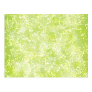 Lime Green Fairy Dust Bokeh Postcard