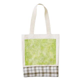 Lime Green Fairy Dust Bokeh Zazzle HEART Tote Bag