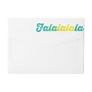 Lime Green Falalalala Custom Holiday Address Label Wraparound Return Address Label