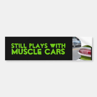 Lime Green Fin Bumper Sticker