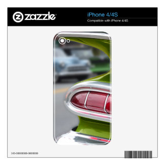 Lime Green Fin iPhone 4S Decal