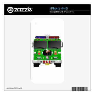 Lime Green Fire Truck Skins For The iPhone 4