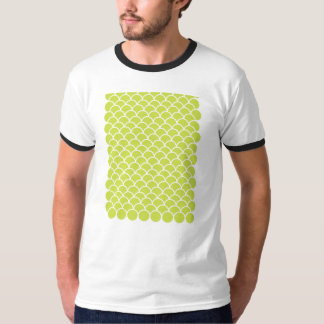 Lime green fish scale pattern t-shirt