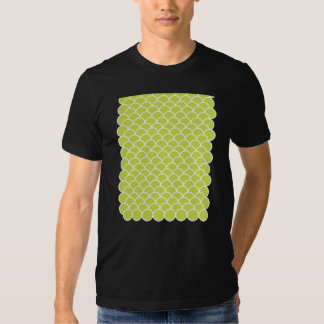 Lime green fish scale pattern tshirts