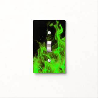 Lime Green Flame Light Switch Cover