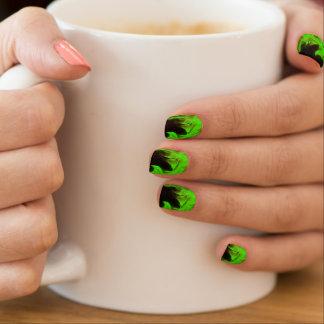 lime green flame minx nail wraps