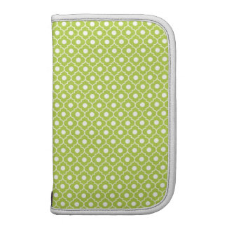 Lime Green Flower Argyle Pattern Pick Size Folio Planners