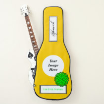 Lime Green Flower Rbn Template by KennethYoncich Guitar Case
