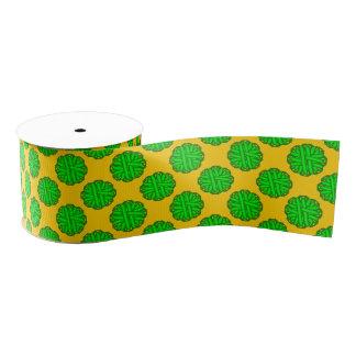 Lime Green Flower Ribbon