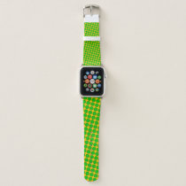 Lime Green Flower Ribbon by Kenneth Yoncich Apple Watch Band