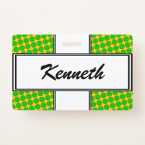 Lime Green Flower Ribbon by Kenneth Yoncich Badge