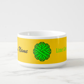Lime Green Flower Ribbon by Kenneth Yoncich Bowl