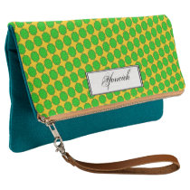 Lime Green Flower Ribbon by Kenneth Yoncich Clutch