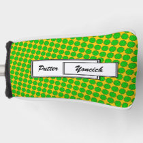 Lime Green Flower Ribbon by Kenneth Yoncich Golf Head Cover