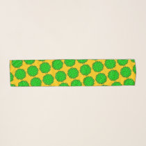 Lime Green Flower Ribbon by Kenneth Yoncich Scarf