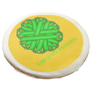 Lime Green Flower Ribbon by Kenneth Yoncich Sugar Cookie