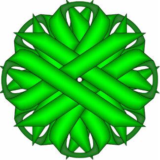 Lime Green Flower Ribbon Cutout