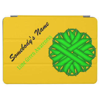 Lime Green Flower Ribbon iPad Air Cover