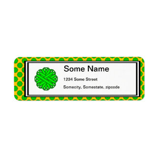 Lime Green Flower Ribbon Label