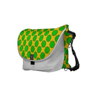 Lime Green Flower Ribbon Messenger Bag