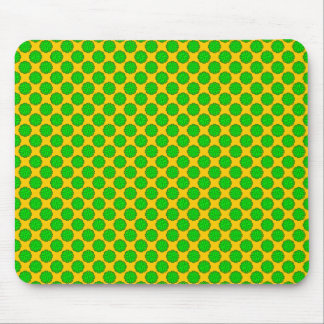 Lime Green Flower Ribbon Mouse Pad