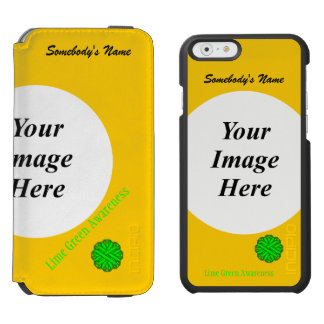 Lime Green Flower Ribbon Template iPhone 6/6s Wallet Case