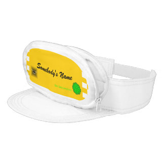 Lime Green Flower Ribbon Template Visor