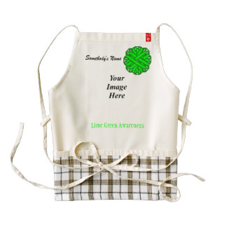 Lime Green Flower Ribbon Template Zazzle HEART Apron