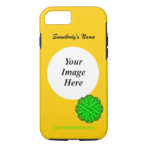 Lime Green Flower Ribbon Tmpl by Kenneth Yoncich iPhone 8/7 Case