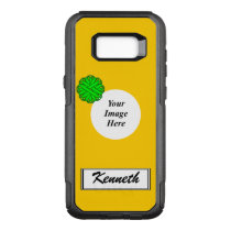 Lime Green Flower Ribbon Tmpl by Kenneth Yoncich OtterBox Commuter Samsung Galaxy S8  Case
