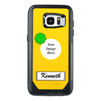 Lime Green Flower Ribbon Tmpl by Kenneth Yoncich OtterBox Samsung Galaxy S7 Edge Case