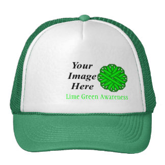 Lime Green Flower Ribbon Tmpl by Kenneth Yoncich Trucker Hat