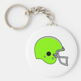 Lime Green Football Helmet Keychain