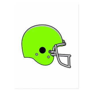 Lime Green Football Helmet Postcard