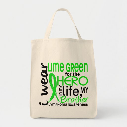 Lime Green For Hero 2 Brother Lymphoma Canvas Bag