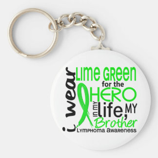 Lime Green For Hero 2 Brother Lymphoma Keychain
