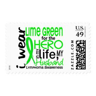 Lime Green For Hero 2 Husband Lymphoma Postage