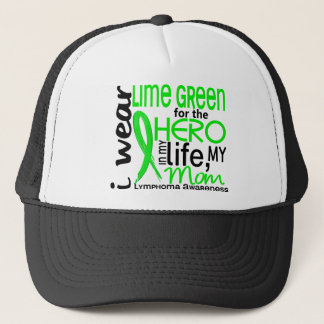 Lime Green For Hero 2 Mom Lymphoma Trucker Hat