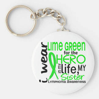 Lime Green For Hero 2 Sister Lymphoma Keychain