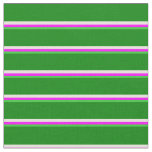 [ Thumbnail: Lime Green, Fuchsia, Beige & Green Pattern Fabric ]