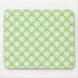 Lime Green Funky Flower Mousepad