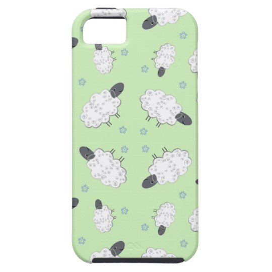 Lime Green Funny Sheep iPhone 5 Case