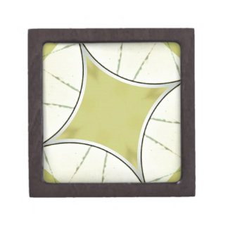 Lime Green Geometric Abstract Gift Box