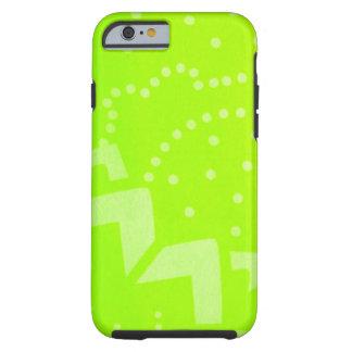 Lime Green geometric dot stripe graphic pattern Tough iPhone 6 Case