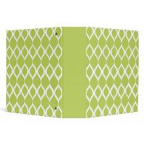 Lime Green Geometric Ikat Tribal Print Pattern Binder